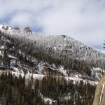 Looking up Wolf Creek Pass