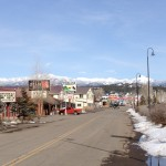 View from Main St., Pagosa Springs, looking toward Wolf Creek Pass