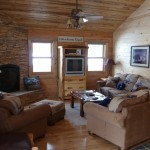 The living room in the cabin
