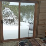 The view from one of the bedrooms in the cabin.