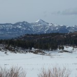 Mountains in the distance from Hartland Ranch